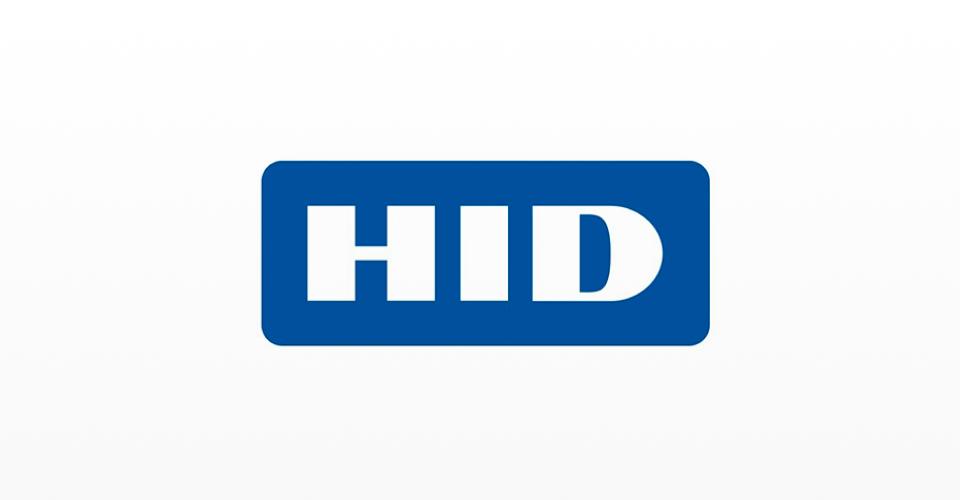 Imagem ilustrativa do logotipo da HID, fabricante de identificadores de acesso seguros
