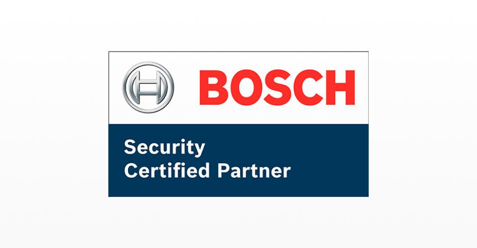 Certificado da Bosch, empresa presente de forma consolidada na área de segurança