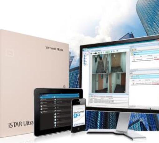 Imagem ilustrativa de computador e de controle de acesso de sistema eficaz para controlar o fluxo de pessoas e veículos, combinando hardwares e softwares customizados