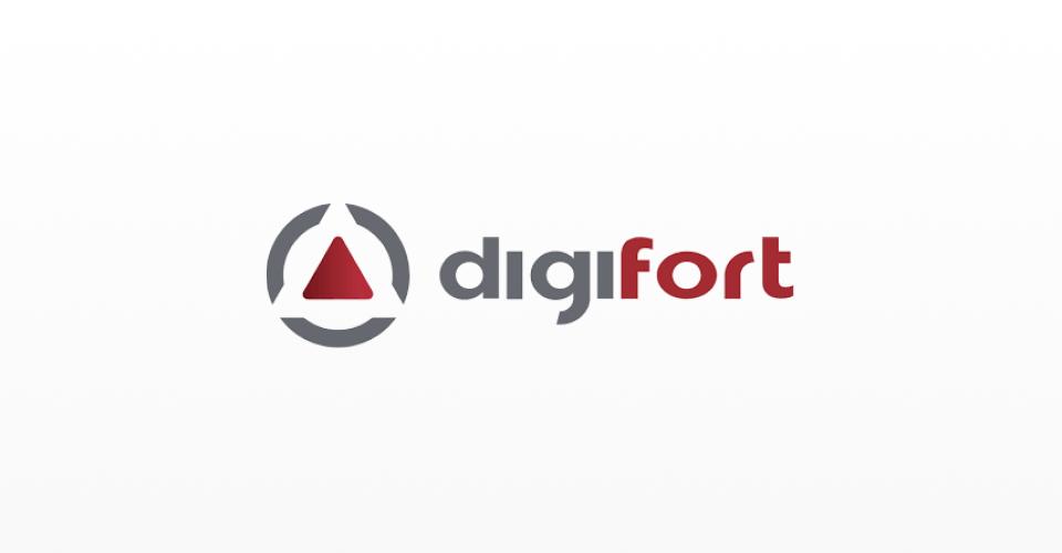 Logotipo da Digifort, empresa brasileira presente em diversos países, exportando sua tecnologia