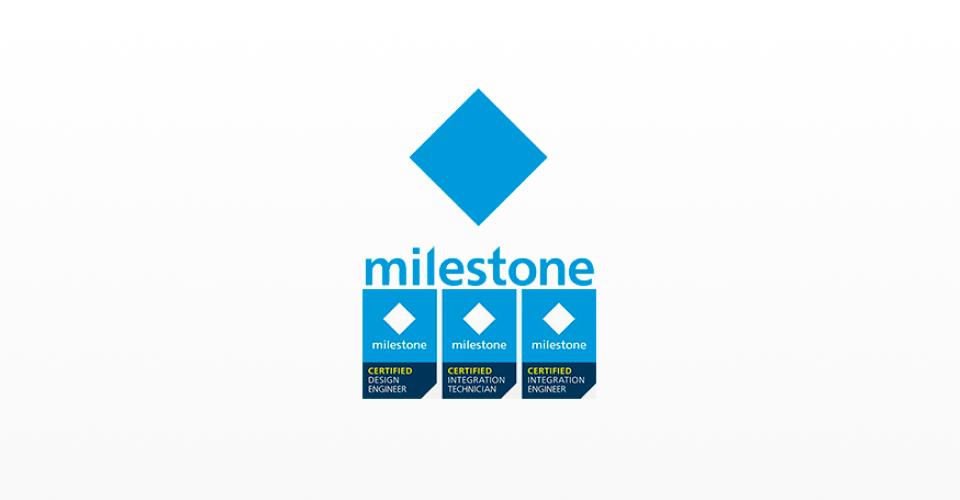 Logotipo da Milestone, atualmente a líder global em Video Management Software (VMS)