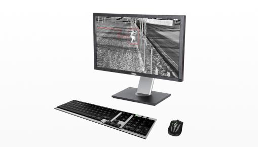 Imagem ilustrativa de computador exibindo sistema de segurança