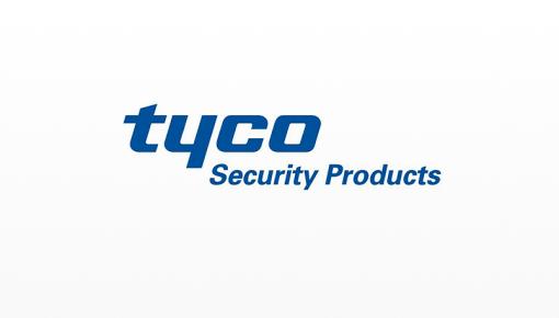 Logotipo da Tyco Security Products, líder mundial em sistemas de segurança integrados
